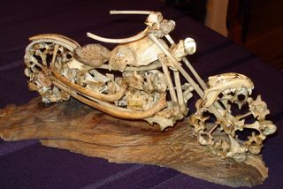 Gnarley-bone sculpture